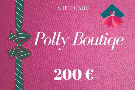 Carta regalo – Buono regalo da 200 euro