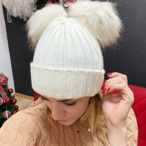 Cappello due pon pon girl