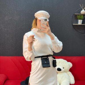 Pull con camicia + bustina white