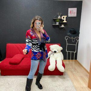 Cardigan Claudia zebrato