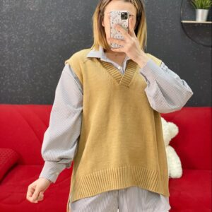 Gilet polly beige