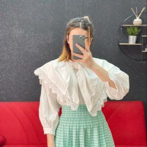 Camicia maxy fiocco