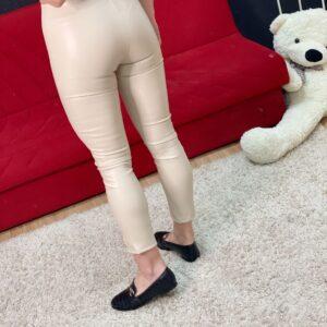 Pantalone con spacchi beige