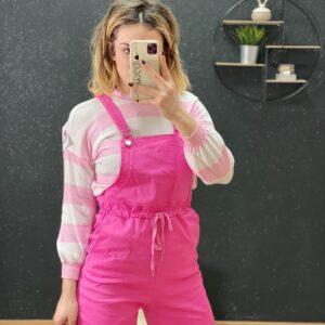 Salopette Pit Stop rosa barbie