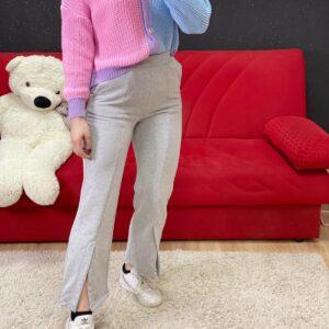 Pantalone comodità grigio