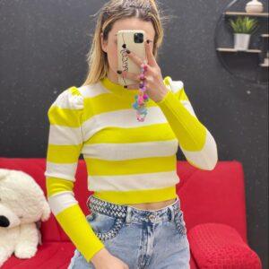 Maglia a strisce gialla