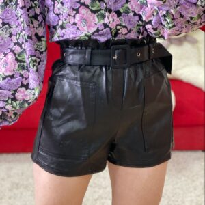 Short in ecopelle black