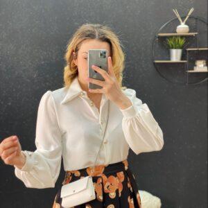 Camicia con pochette white