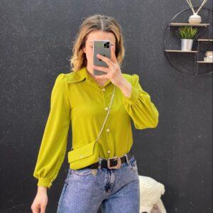 Camicia con pochette verde