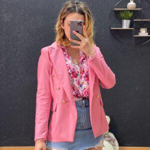 Blazer doppio petto rosa
