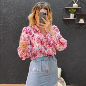 Camicia esmeralda rosa