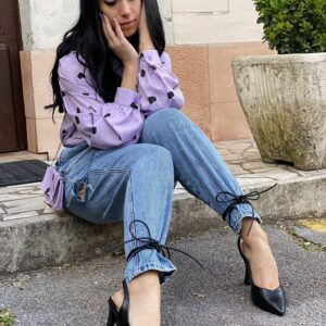 Jeans slouchy con strappi