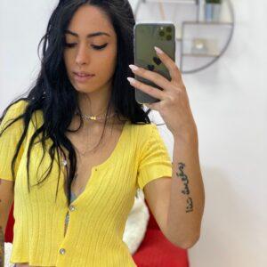T-shirt in filo gialla