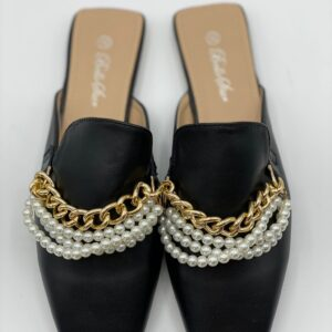 Slippers con perle black