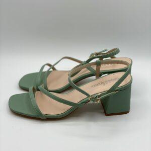 Sandalo midi verde