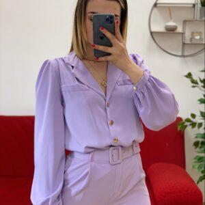 Camicia esmeralda lilla