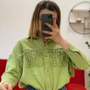 Giacca con frange verde
