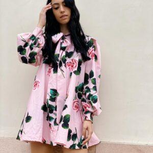 Abito farfalla rosa