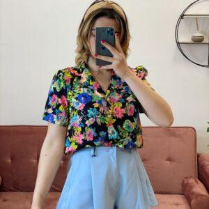 Camicia esmeralda mezza manica safari