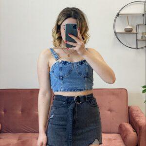 Corpetto di jeans denim