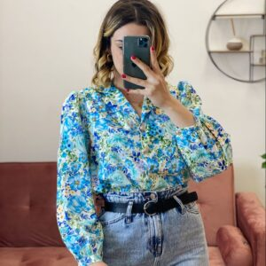 Camicia esmeralda celeste