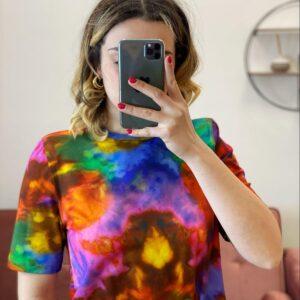 T Shirt anni 80 con spallina