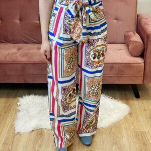 Pantalone a palazzo a stampa