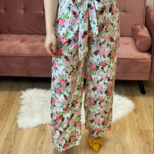 Pantalone a palazzo a fiori