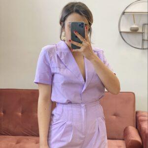 Completo in lino lilla (Giacca + pantalone)