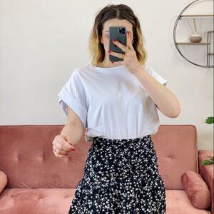 T-Shirt con risvoltino white