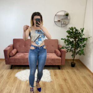 Jeans senza tasche