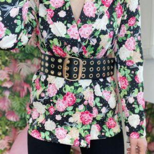 Giacca con fiori black