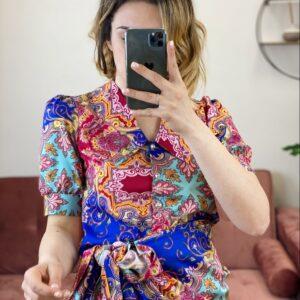 Camicia con maxy colletto summer