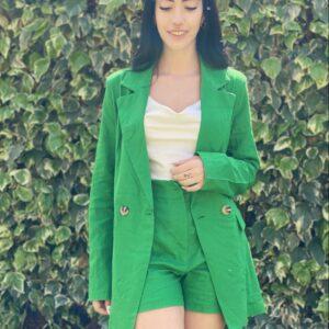 Completo in lino verde
