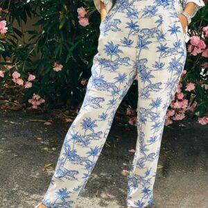 Pantalone Safari white