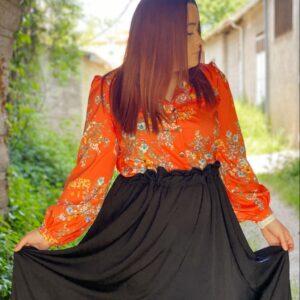 Camicia esmeralda arancione