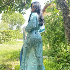 Kimono bandana verde
