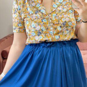 Camicia esmeralda gialla