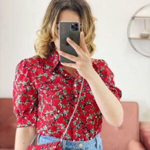 Camicia rose rosse per te con pochette