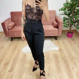 Pantalone con cinta black