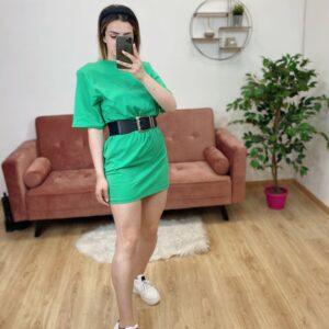 Abito con spalline verde