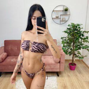 Bikini leopardato rosa