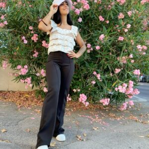 Pantalone a zampa black
