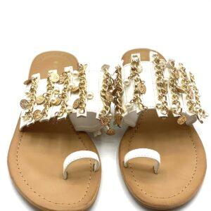 Sandalo con moneta white