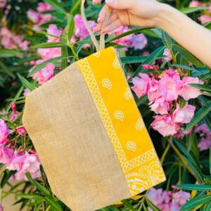 Pochette summer con bandana gialla