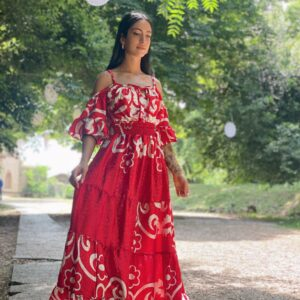 Abito Catia Rosso