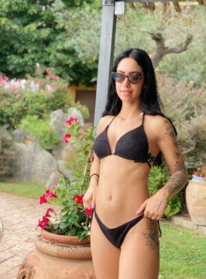 Bikini uncinetto nero