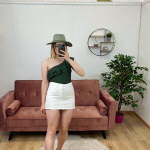 Minigonna di jeans bianca