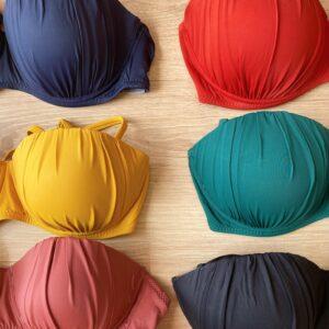 Reggiseno push up a conchiglia vari colori