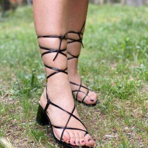 Sandalo midi black